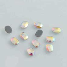 color stone <strong>crystal</strong> iron on glass hot fix cut stone for dresses