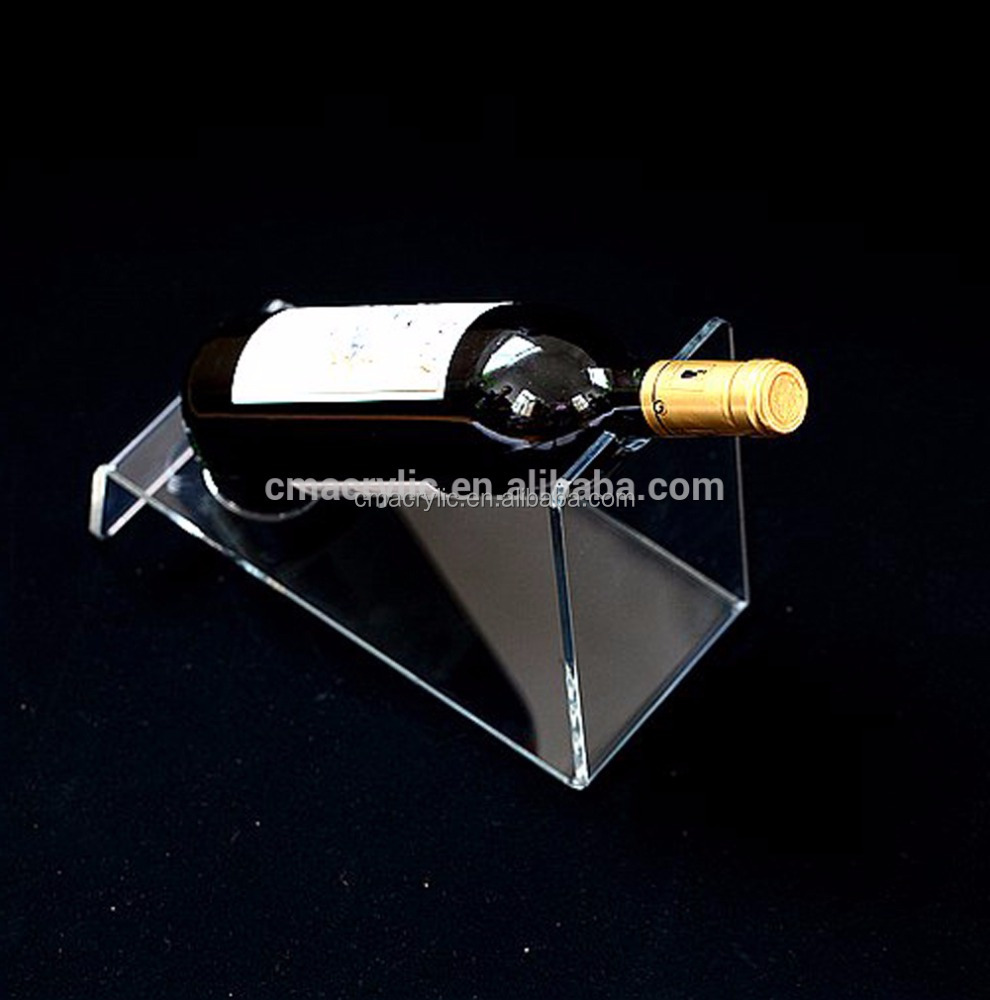 High grade plexiglass acrylic beer display stand / Z shape acrylic wine bottle display holder