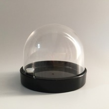 2017 Custom Plastic snow globe, 3D Diy snow globe empty snow globe for promotional