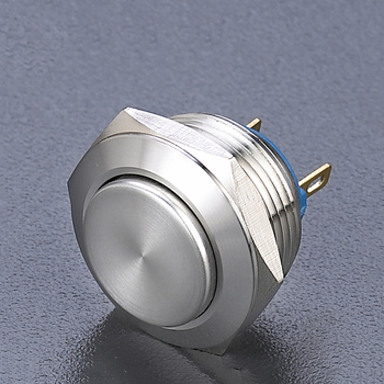 16mm 2A IP65 Anti vandal metal industrial push button switch