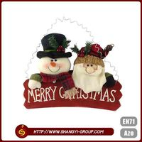 Promotion best sale new design polyester felt cute sonwman outdoor christmas decorations