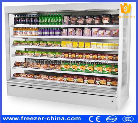 Display Cooler Type and CE Certification large size fruit fridge