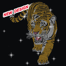 Bling Hotfix Tiger Rhinestone Appliques Iron on Motif Designs for Clothes M 2 (3)