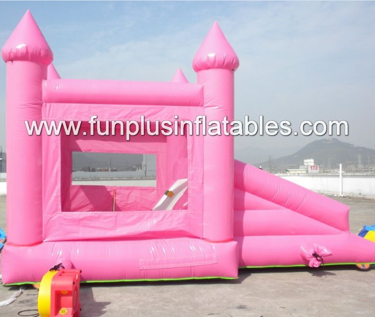 pink inflatable bouncer/inflatable princess combo F3106