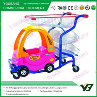 Supermarket Kids plastic shopping trolley with toy car