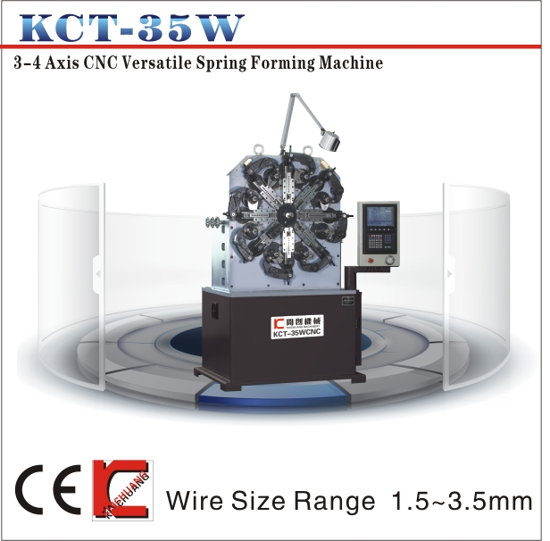 KCT-35W 3-4 Axis CNC Versatile Spring Forming Machine