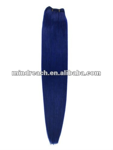 Beauty style blue silk straight virgin Brazilian hair in stock,accept escrow