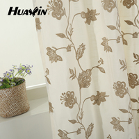 new design wholesale elegant embroidered curtains and drapes