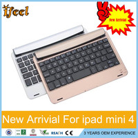 New Tablet Case Wireless Bluetooth Keyboard Protective Aluminium Alloy Case For Apple iPad mini 1 2 3 4