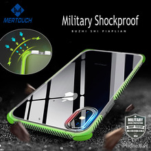 2018 New Amazon Hot Selling Luxury For iPhone 6 7 8 10 X Mobile Phone Military Shockproof TPE TPU Cover Cell Phone Case