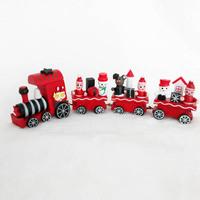 DM 576 wholesale funny original choochoo tool santa decoration crft wood kids gift Christmas gift