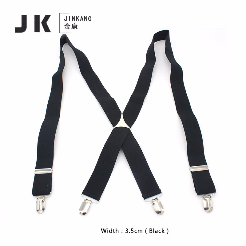 35XT4J01 Fashion men elastic adjustable braces for wholesale black suspenders for adults