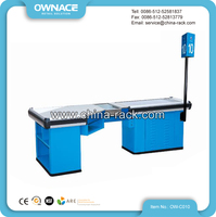 Checkout Counter Cashier Table Desk with Direct Sign