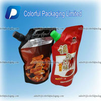 Custom Stand Up Cooler Plastic Wine Bag,Liquid Bags,Spout Bags