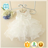 Baby girls Mini Sleeveless Angel White wedding dress Bow-knot Beaded party derss Net frock designs for Kids 1 years old