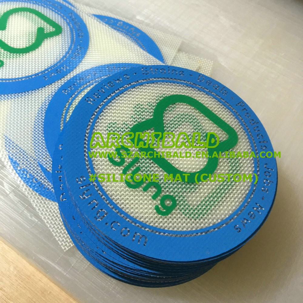 Oil Concentrate slick Dabbing Duo Small Pads silicone pads wax pads