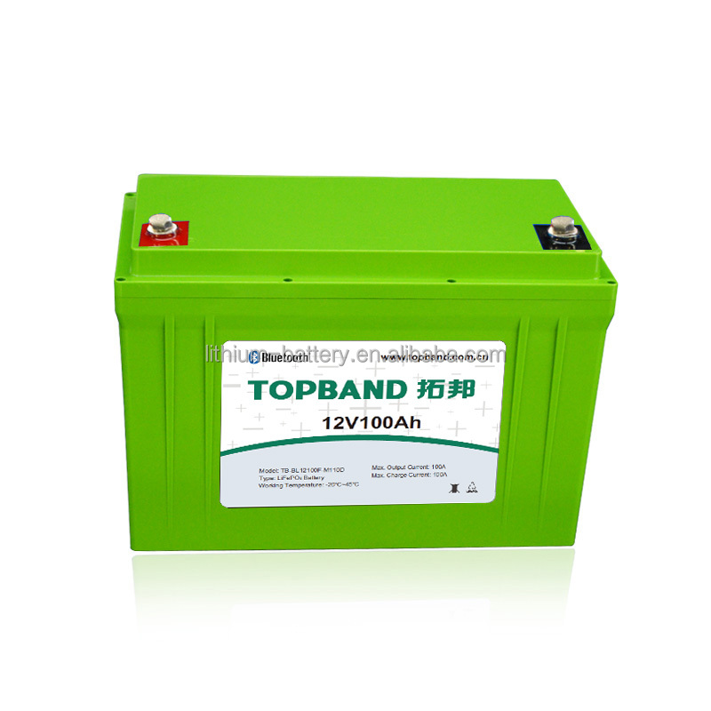 12V 100Ah Nano LiFePO4 storage batteries with Bluetooth for UPS/ Golf cart/ RV Capmer/Caravan