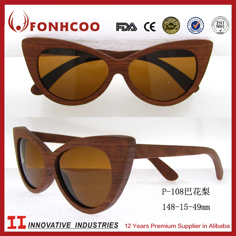 FONHCOO Alibaba New Futuristic Custom Engraved Kevazingo Wooden Sunglasses
