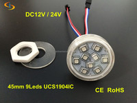 Programmable led pixel light with 45mm DC12/24V DXM rgb for decorating