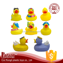 2017 hot style Bath toy cute rubber yellow ducks Heating and plumbing