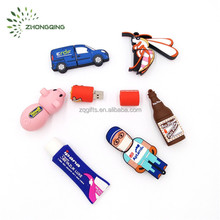 Custom Soft PVC USB Flash Drive, Silicone Rubber USB Flash Disk,4GB/8GB/16GB/32GB