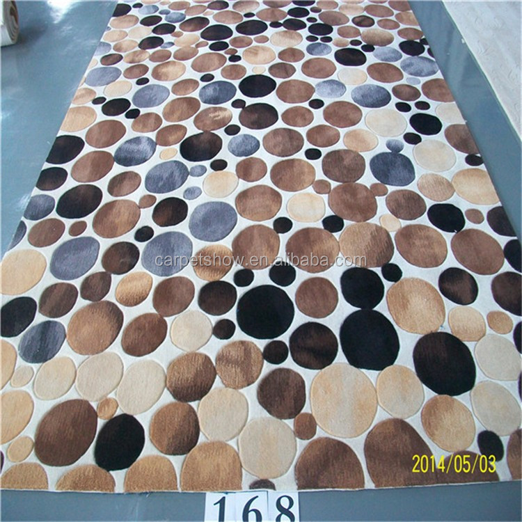 Chinese modern design handmade carving wool rug carpet