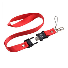 Lanyard Free Sample Products Pendrive 16GB 32GB Lanyard Neck Strap Usb Flash Drive 500gb 1tb With Print Logo