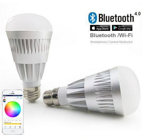 2014 newest product RGBW 7W e14/e26/e27/b22 Bluetooth 5000 lumen led bulb light