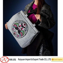 CE approved new fashion and unique felt tote bag made in China