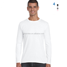 Wholesale blank t shirt solid plain sweatshirt long sleeve t-shirt custom logo