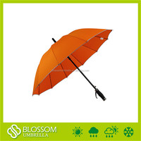 Top quality cheap straight golf blank orange automatic umbrella windproof