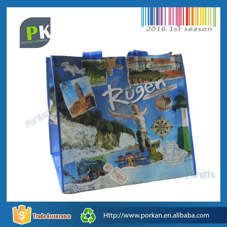 2016 Foldable Laminated Recyclable PP Non Woven Shopping Tote Bags