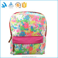 LOW MOQ fashion colorful canvas school bag backpack wholesale