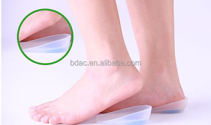 Silicone Heel Cup Feet Care Heel Increased Insoles Prevent Bone Spurs