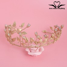 Newest arrival Vintage Wedding Bridal Crown Women Party Pageant Tiara Fashion hair accessories XB178