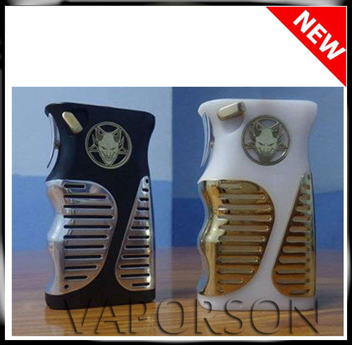 box mod engraved emblem and logo of gold plated wholesale lucifer el diablo box mod in stock