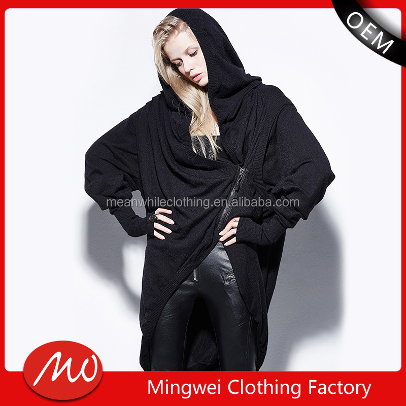 muslim long cardigan long batwing sleeve hooded sweater knitting patterns coat