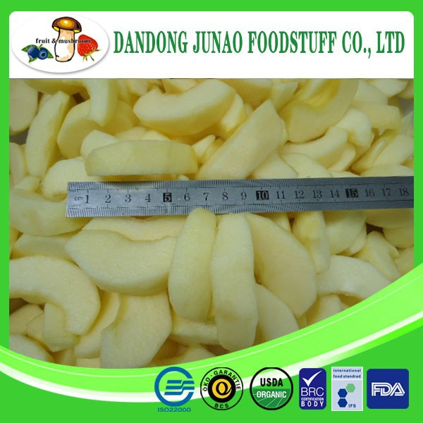 Frozen style dried iqf bulk frozen apple