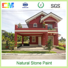 CM factory price alkali-resistant acrylic spray natural stone exterior wall paint texture
