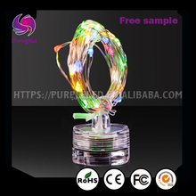 ShengHui Christmas candle LED String light candle Wedding led light with cup Copper Wire waterproof Decorative Light String