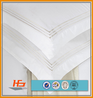 100% cotton white plain / stripe / jacquard used 5 star hotel Embroidery Bedding Set / Bedroom Set