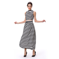 New Pattern Girls Suits Tops and Skirts Suits Stripes Suits 2015