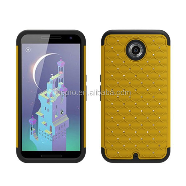 2014 New Arrival Hot Sell Hybrid Diamond Cellphone Case for Google Nexus 6