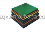 Outdoor safety rubber floor tile/ rubber floor mat for outdoor playground QX-11100B
