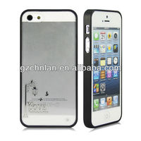 "2013 newest To Love design TPU bumper clear hard case for iphone 5"" case luxury"