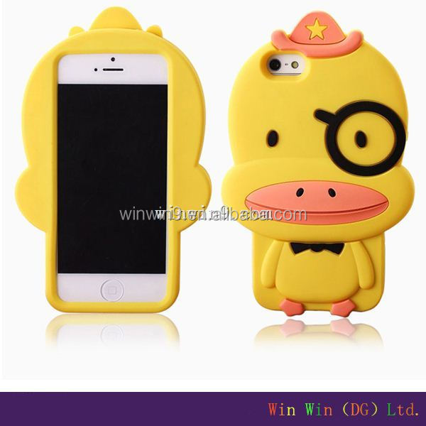 Wholesale soft Animal Shaped 3D glow in the dark silicone cell phone case