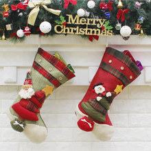 New bulk handmade soft felt sock kids hanging red Christmas santa claus