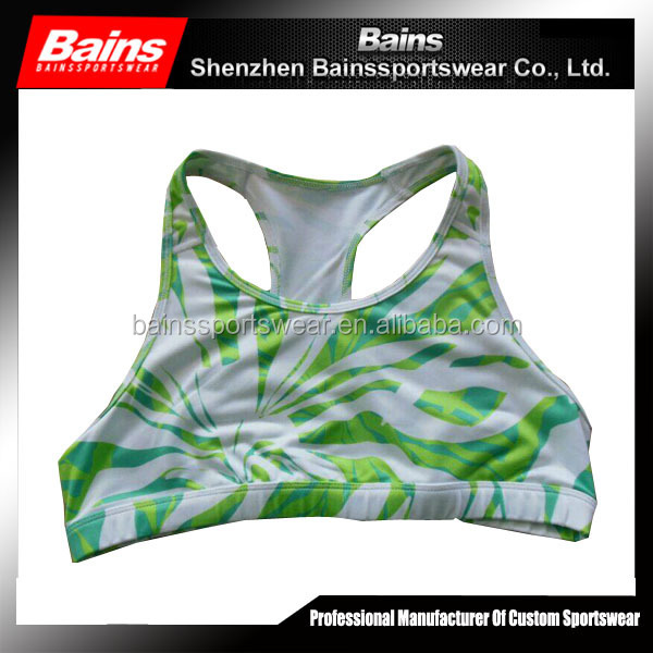 Factory price sublimation cheerleading sports bra and shorts set