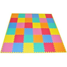Customized logo eva tiles indoor children playing high elastic mat