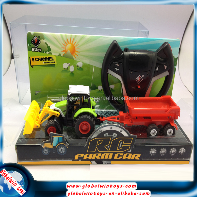 Hot steering wheel remote control famer car,rc dump trucks for sale